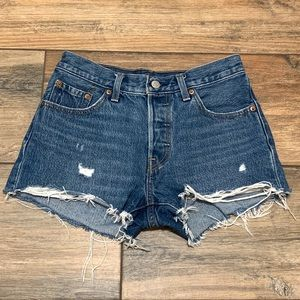 Levi's 501 High Rise Distressed Shorts